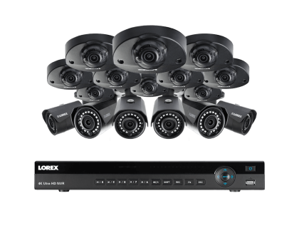 Lorex 16 Channel Security System with 2K Resolution and HD 1080p Mix (HDIP16106AW)