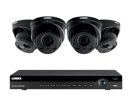 Lorex 4K Ultra HD IP NVR Security Camera System with 4 IP Cameras (4KHDIP822NW)