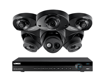 Lorex 4K Ultra HD IP NVR Security Camera System with 6 IP-Cameras (4KHDIP833AN)