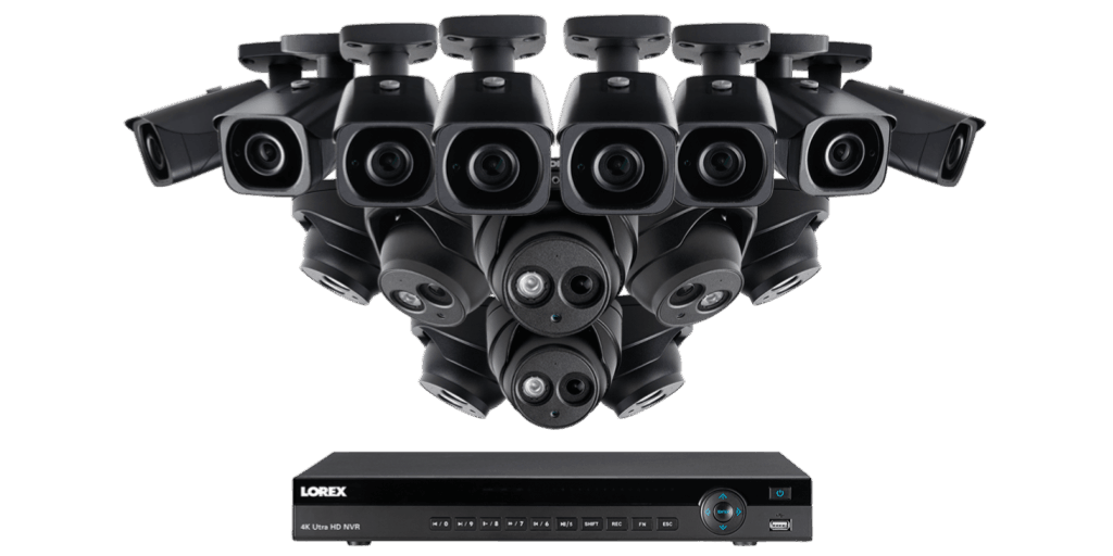 Lorex 4K Ultra HD IP NVR Security Camera System with 8 IP Cameras (4KHDIP1688N)