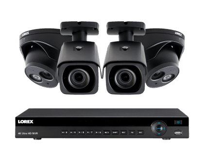 Lorex 4K Ultra HD IP NVR Security Camera System with 8 IP Cameras (4KHDIP822NV)