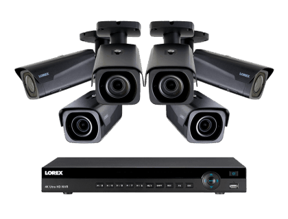 4K Ultra HD IP NVR System with 6 Outdoor 4K IP Cameras 4KHDIP86NV