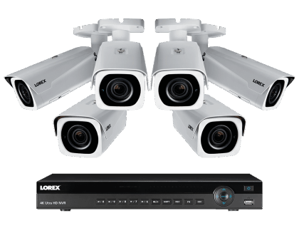 Lorex 4K Ultra HD IP NVR System with 6-Outdoor 4K-IP Cameras (4KHDIP86NVW)
