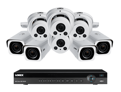 Lorex 4K Ultra HD IP NVR System with 8-4K-IP White Cameras (4KHDIP844NVW)