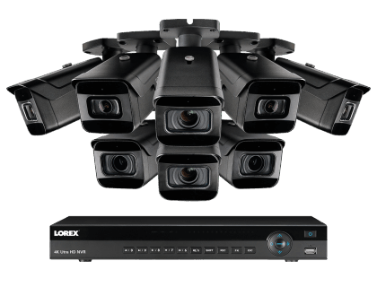 Lorex 4K Ultra HD IP NVR System with 8-Outdoor 4K 8MP IP cameras (4KHDIP168Ni)