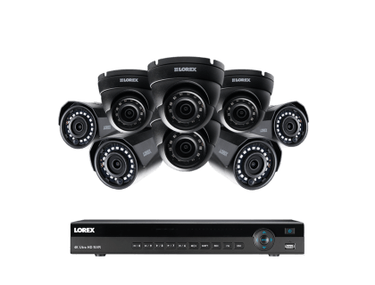 Lorex 8-Channel 2K Resolution Home Security-System with 8 IP Cameras (2KHDIP844D)