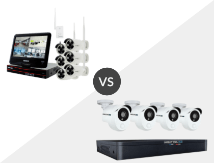 8CH Crystal Vision All-in-One Wireless NVR System vs. Night Owl 8 Channel HD 1TB DVR System