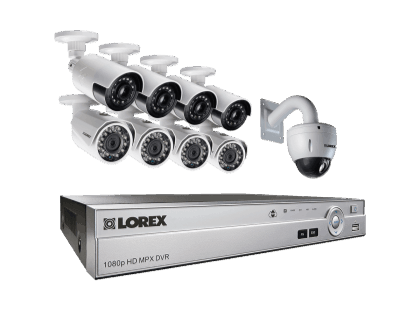 9 Camera Security System with 4 Ultra Wide Angle Cameras and PTZ