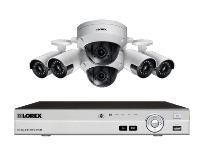9 Camera Security System with 4 Ultra Wide Angle Cameras and PTZ MPX842ZUW