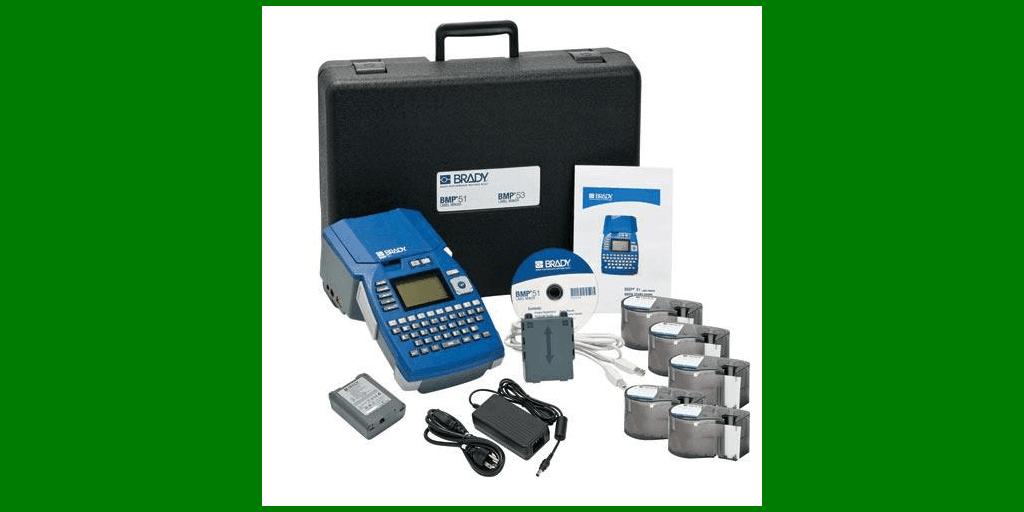 Brady BMP®51 Label Printer Facility Identification Starter Kit