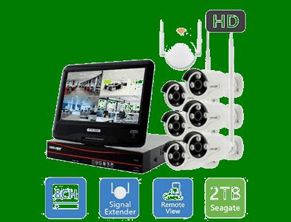 Crystal Vision Wireless Security Camera System 8-CH (CVT9608E-3010W)