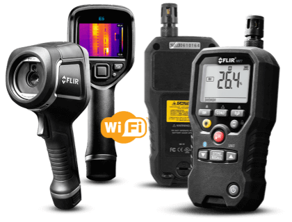 Flir E5 with WiFi Infrared Camera and MR77 Moisture Psychrometer