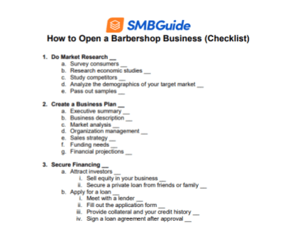 How to Start a Barbershop (Checklist)