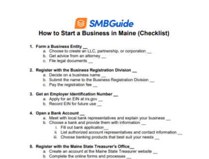 How to Start a Business in Maine (Checklist)