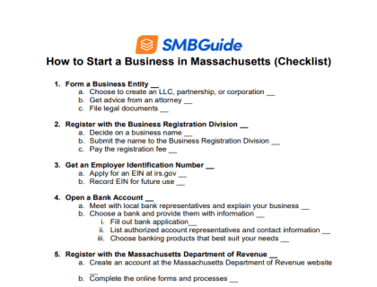 How to Start a Business in Massachusetts Checklist