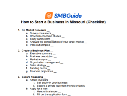 How to Start a Business in Missouri Checklist