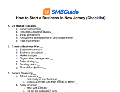How to Start a Business in New Jersey Checklist