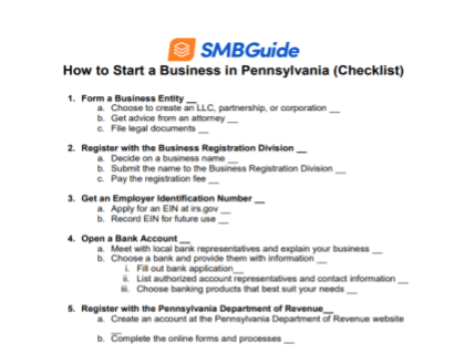How to Start a Business in Pennsylvania Checklist