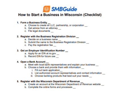 How to Start a Business in Wisconsin Checklist