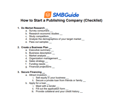 How to Start a Publishing Company - Checklist