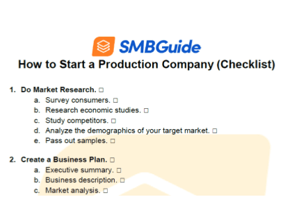 How To Start A Production Company Checklist