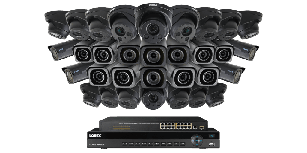 Lorex 4K Ultra HD IP NVR Security Camera System with 32 IP Cameras 4KHDIP321616VF
