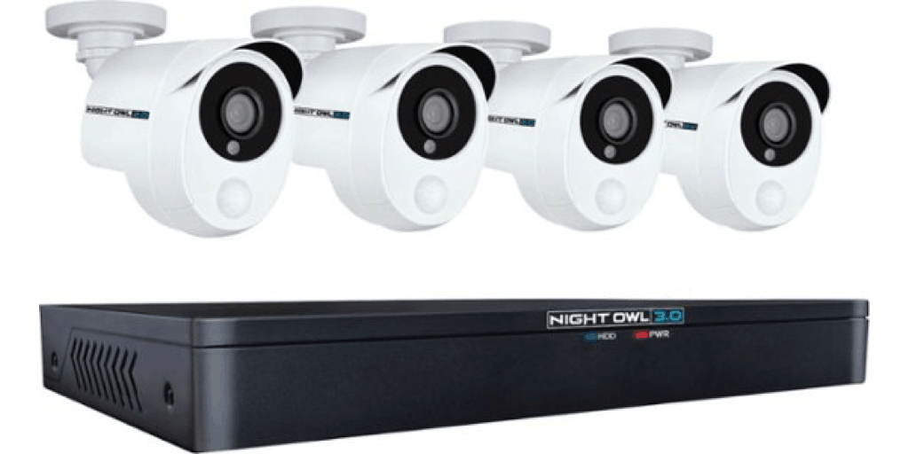 Night Owl Extreme Hd 8 Channel 4 Camera Wired 1 Tb Dvr Surveillance System