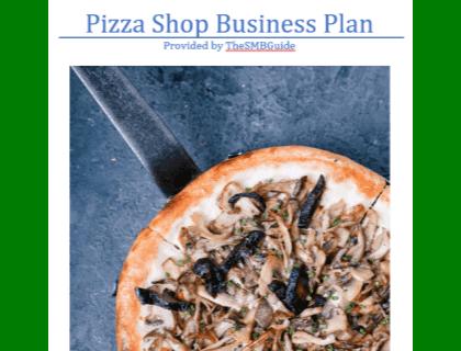 Pizza Shop Business Plan Template Download