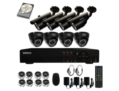 Sansco Security Camera System With 8 Channel 1080 N DVR