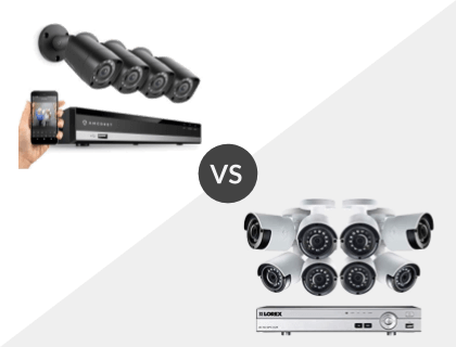 Amcrest HD 1080P-Lite 8CH System vs. Lorex 8CH Wired 4K 2TB DVR System