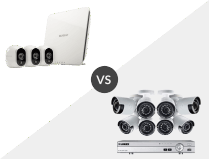 Arlo Smart Security System with 3 Arlo Cameras vs. Lorex 8CH Wired 4K 2TB DVR System