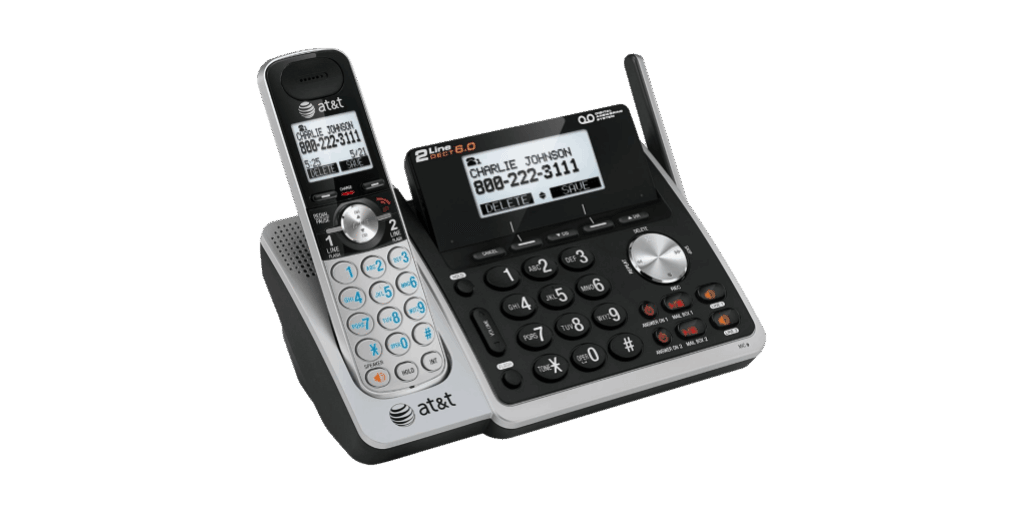 AT/&T TL88102 DECT 6.0 2-Line Cordless Answering System