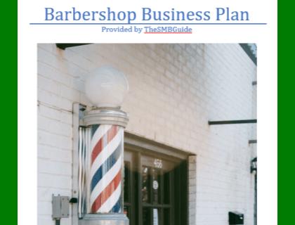 Barbershop Business Plan Template Download