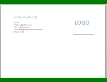 Business Letterhead Free Template