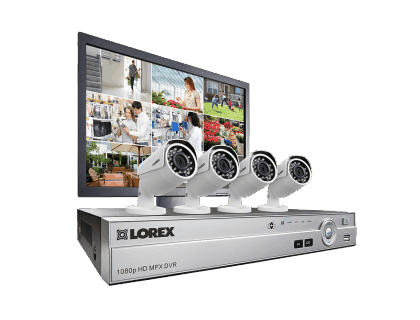 Complete 4-Camera HD Home Security System with Led Monitor MPX84MW