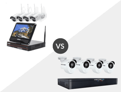Cromorc All-in-One with Monitor Wireless vs. Night Owl 8 Channel HD 1TB DVR System