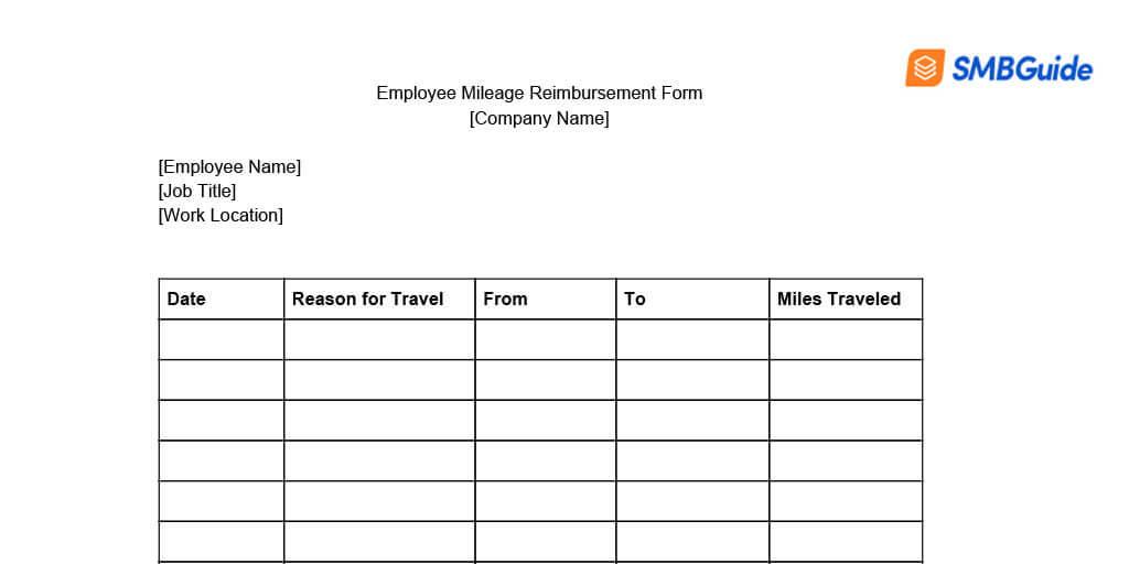 Mileage Reimbursement For Employees Info Amp Free Download