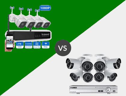 Firstrend 8CH Wireless NVR System vs. Lorex 8CH Wired 4K 2TB DVR System