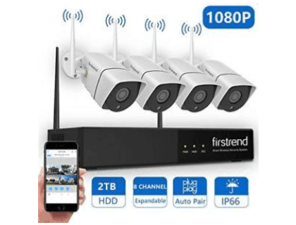 Firstrend 8Ch Wireless Nvr System With 4Pcs