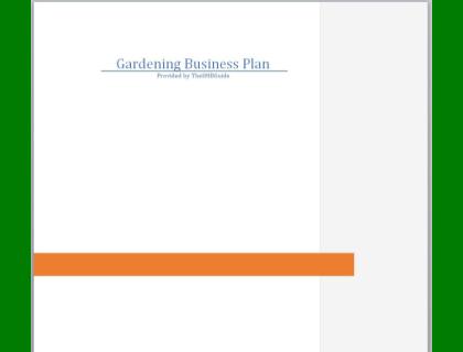 Gardening Business Plan Template