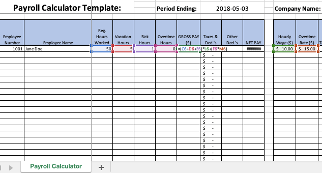 Excel Payroll Formulas Includes Free Excel Payroll Template