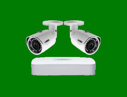Lorex HD Security Camera System with 2K Recorder Weatherproof Cameras (LNR84W)