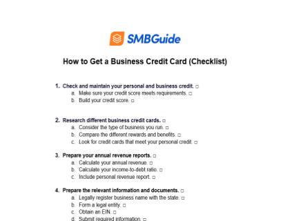 How To Get A Business Credit Card Checklist