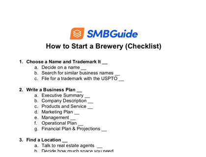 How To Start A Brewery Checklist
