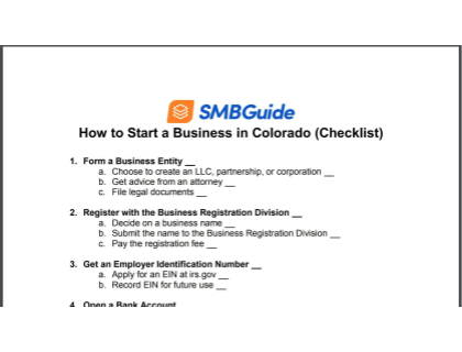 How To Start A Business In Colorado Checklist