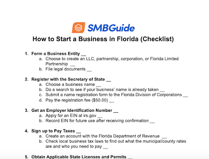 How To Start A Business In Florida Checklist