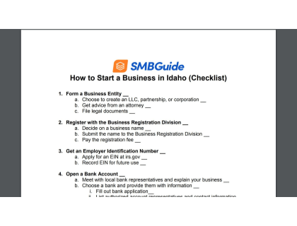 How To Start A Business In Idaho Checklist