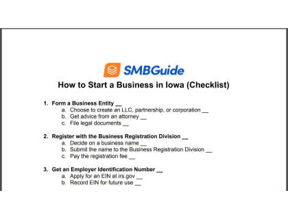 How To Start A Business In Iowa Checklist