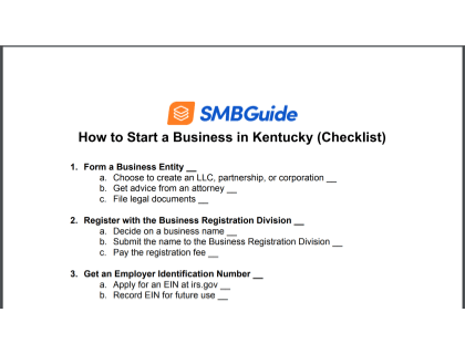 How To Start A Business In Kentucky Checklist