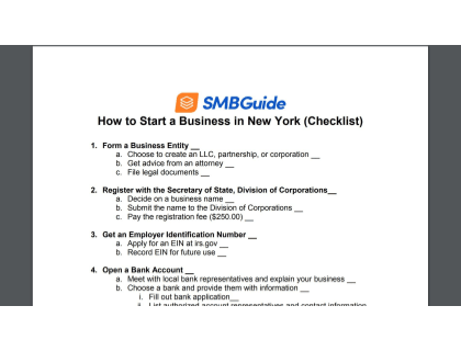 How To Start A Business In New York Checklist